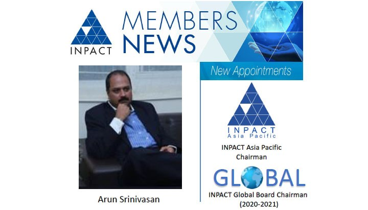 NEW CHAIRMAN FOR INPACT Asia Pacific Board and Global Board Chair for 2020-21.